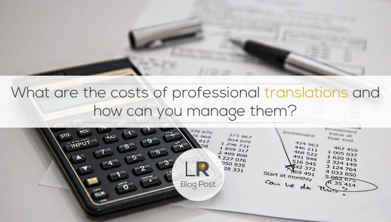 How to manage translation costs
