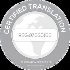certify translation