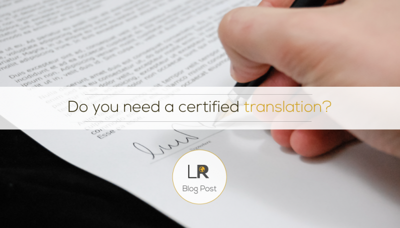 What Is Certified Document Translation?
