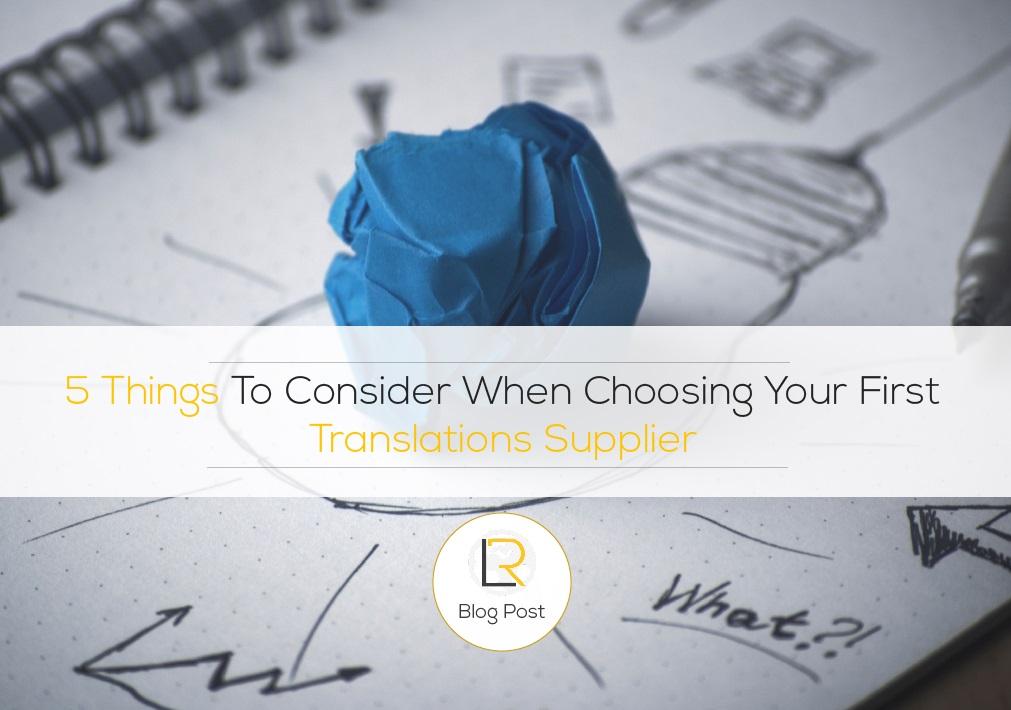 choose translation agency