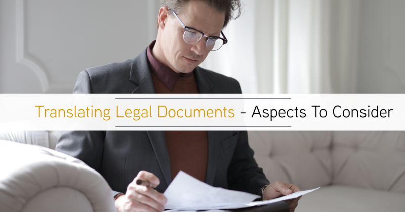 Aspects to consider when translating legal documents