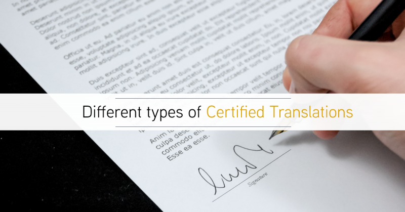 Certified Translation – What are the different types?